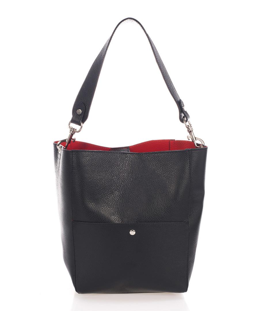 Black leather bucket bag Sale - scui studios