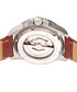 Lucius steel & brown leather watch Sale - heritor automatic Sale
