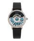 Adaline black leather half-dial watch Sale - bertha Sale