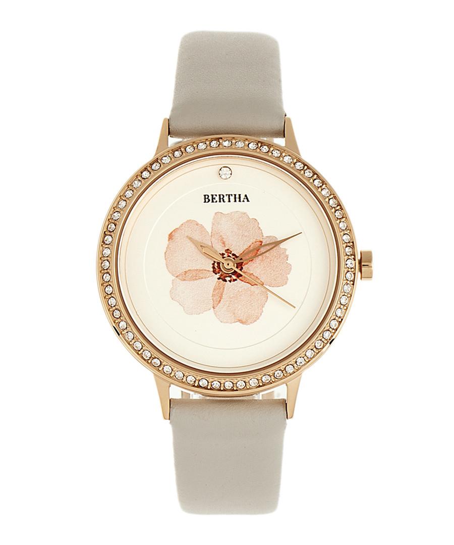 Delilah stone leather quartz watch Sale - bertha