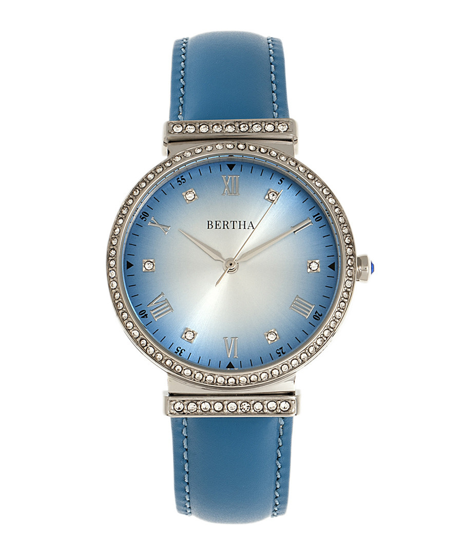 Allison blue leather watch Sale - bertha