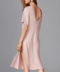 Powder pink split nightgown