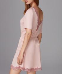 Powder pink contrast hem nightdress