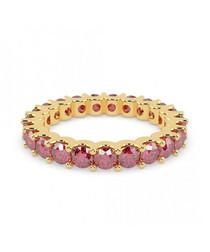 Ruby & 9k gold eternity ring
