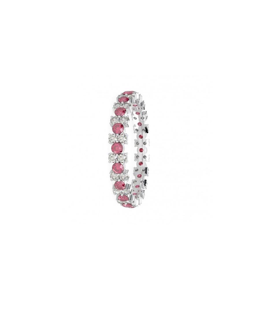 Ruby & diamond garland ring Sale - Buy Fine Diamonds