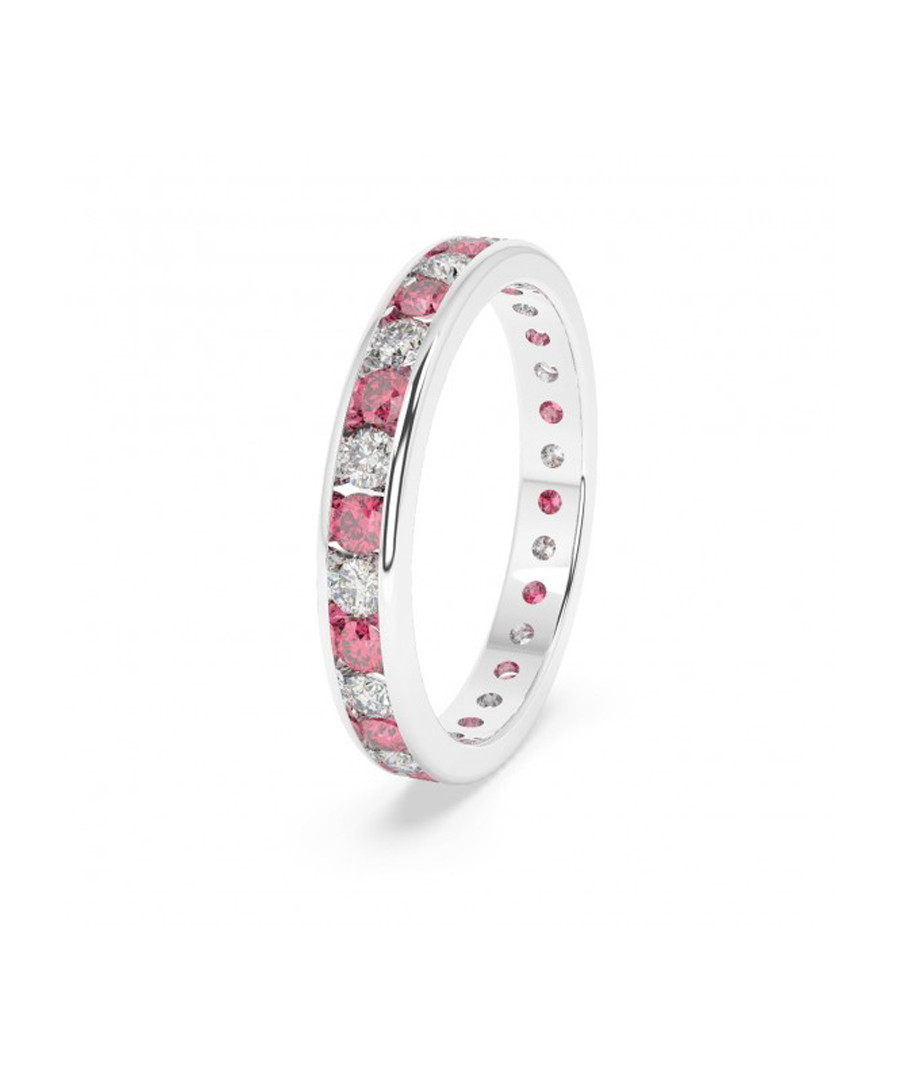 Ruby & diamond row eternity ring Sale - Buy Fine Diamonds