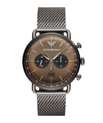 Gunmetal stainless steel watch