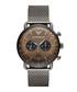 Gunmetal stainless steel watch Sale - Emporio Armani Sale