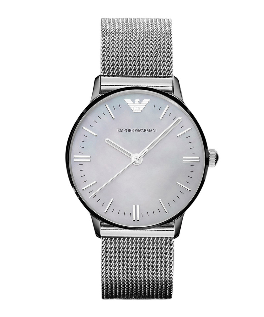 Silver-tone stainless steel watch Sale - Emporio Armani