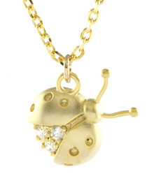 14k gold-plated ladybird necklace