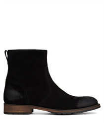 Attwell black suede ankle boots