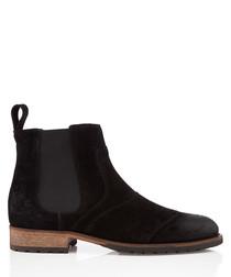 Lancaster black suede Chelsea boots