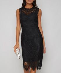 Laila black sleeveless dress