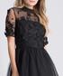 Oria black sheer detail dress Sale - chi chi london Sale