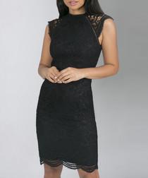 Suranne black sleeveless dress