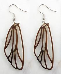 Dragonfly wings buffalo horn earrings