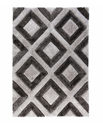 Diamonds grey rug 160 x 230cm