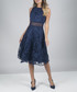Christia navy sleeveless lace dress Sale - chi chi london Sale