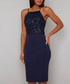Alsie Navy sequin strap Dress Sale - chi chi london Sale