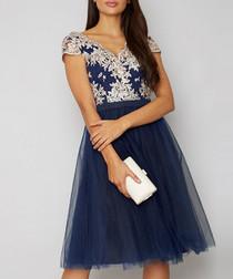 Joan navy floral Dress