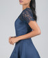 Lilo blue lace detail short sleeve Dress Sale - chi chi london Sale