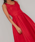 Posy scarlet red sleeveless Dress Sale - chi chi london Sale