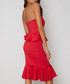 Arya red one-shoulder ruffle Dress Sale - chi chi london Sale