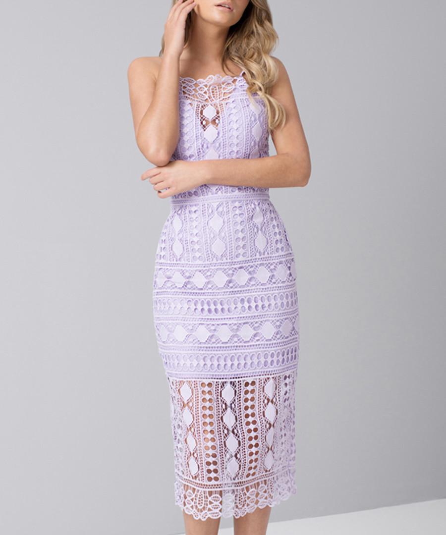 Arsha lilac brocade lace Dress Sale - chi chi london