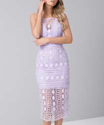 Arsha lilac brocade lace Dress