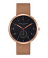 Rose gold-tone & brown leather watch Sale - ted baker Sale