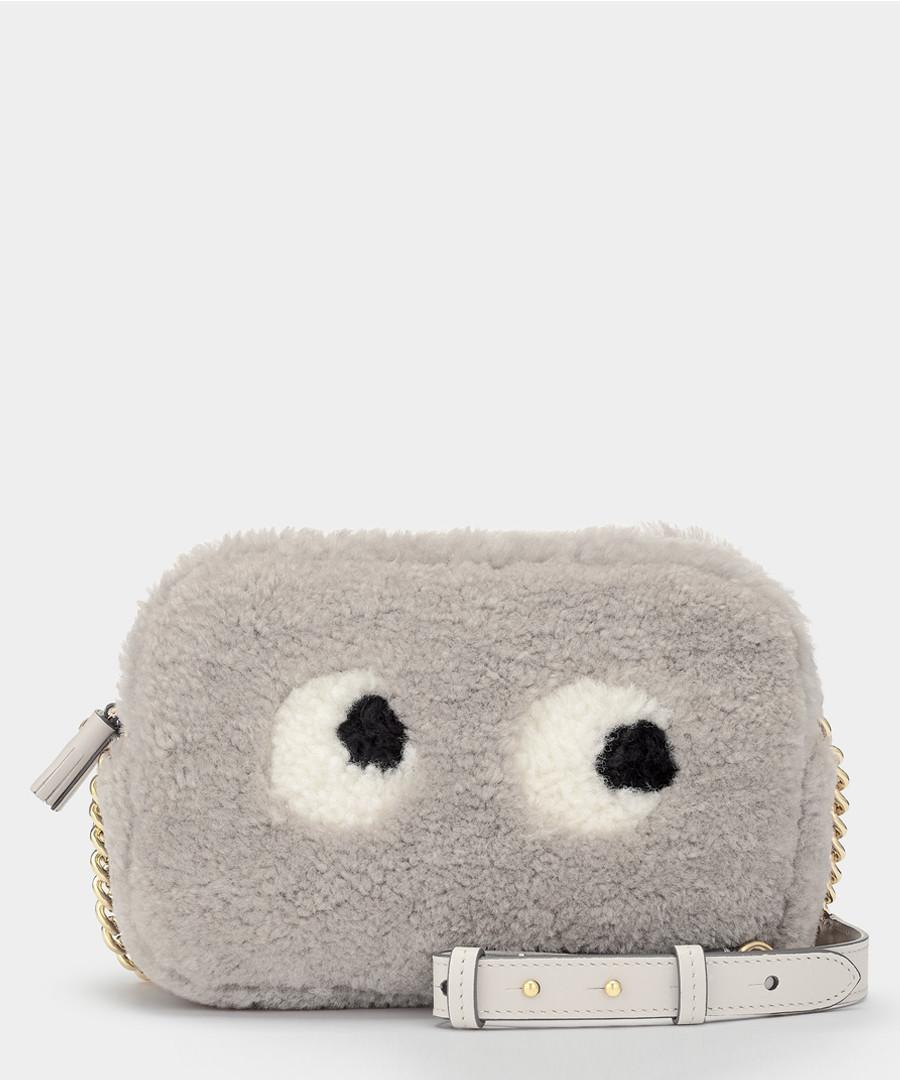 Eyes ash shearling crossbody bag Sale - Anya Hindmarch