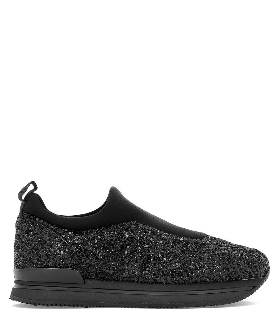 H222 black glitter sneakers Sale - hogan