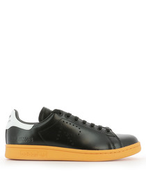 Adidas by Raf Simons black leather Stan Smith sneakers