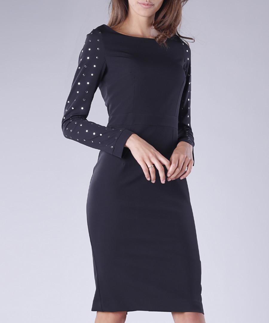 black sleeve detail bodycon dress Sale - 1st somnium