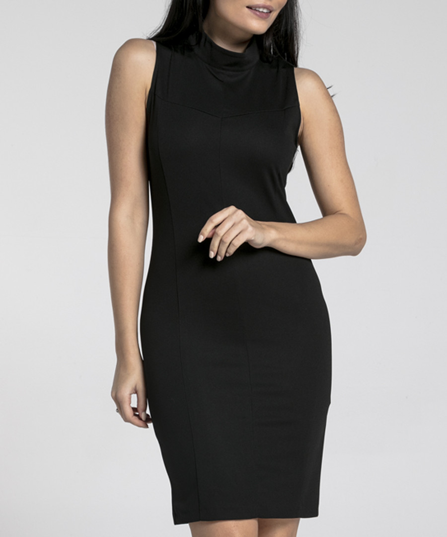 black sleeveless bodycon dress Sale - naoko