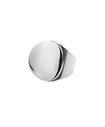 Orbita silver-tone steel ring