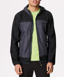 Men's black & grey soft shell jacket