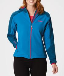 Women's blue soft shell jacket