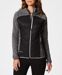 Women's grey & black soft shell jacket