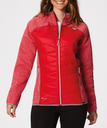 Women's red padded jacket