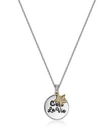 cest la vie crystals necklace