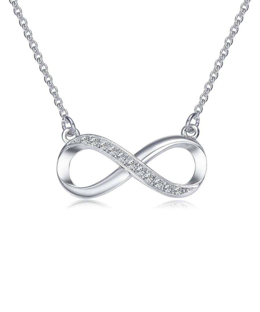 infinity rhodium-tone & swarovski set Sale - mestige