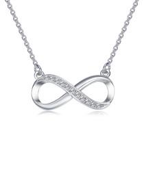 infinity rhodium-tone & swarovski set