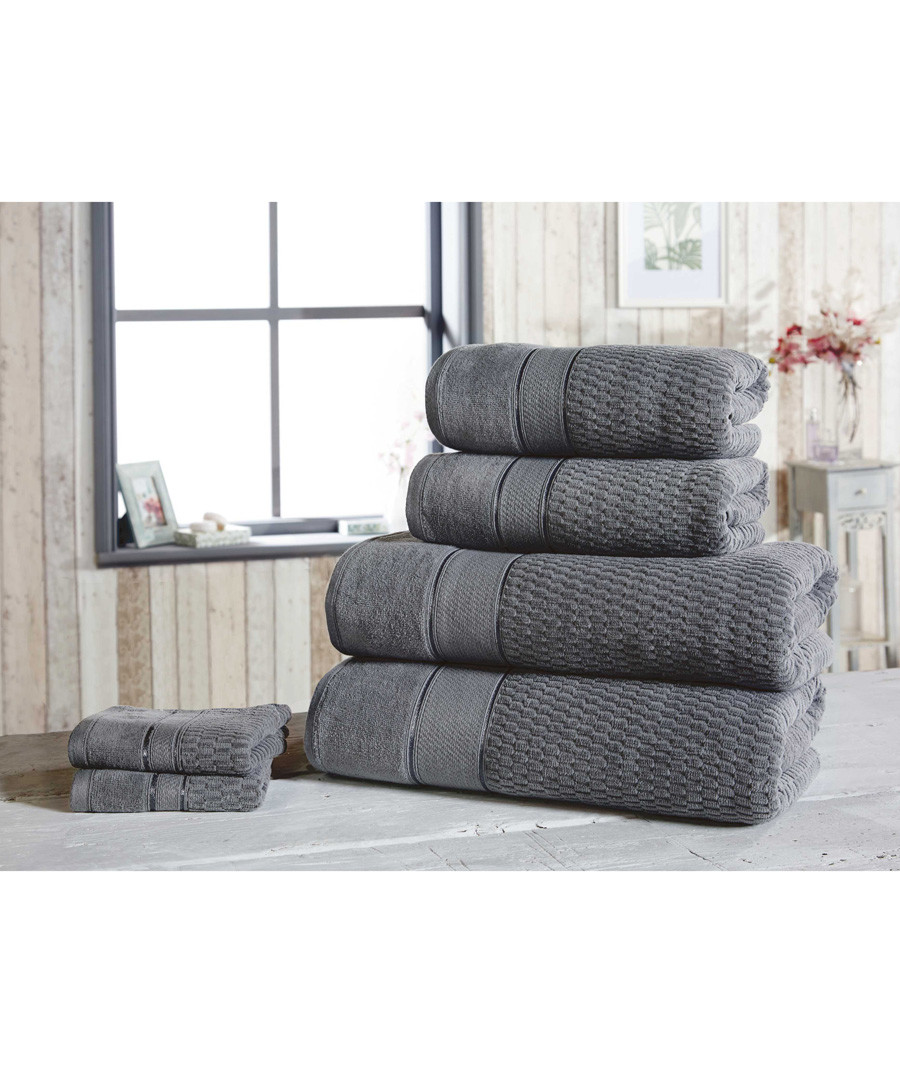 6pc grey pure cotton towel set Sale - royal velvet