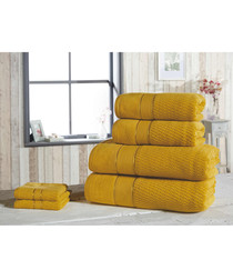 6pc amber pure cotton towel set