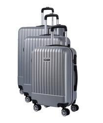 3pc spirit silver-tone suitcase set