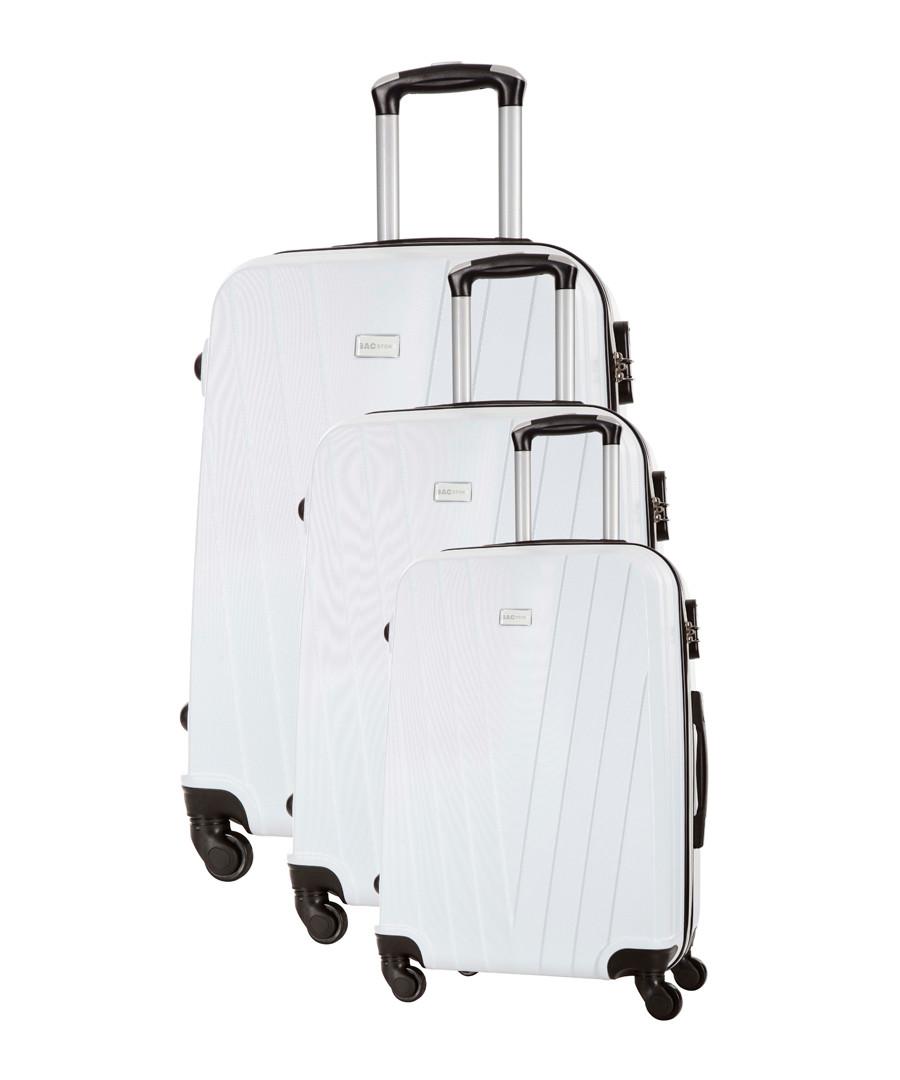 3pc mystic white suitcase set Sale - bagstone