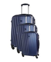 3pc mystic marine suitcase set