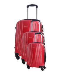 3pc mystic red suitcase set