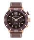 Pugnator brown leather & steel watch Sale - spears & walker Sale